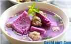 Ngon, mát và dễ ăn với cách nấu canh khoai mỡ thịt bằm bổ dưỡng