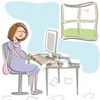 Những cách dùng máy tính ảnh hưởng xấu đến thai nhi