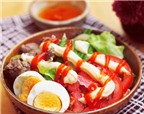 Salad thịt bò, canh chua hến thơm ngon cho bữa cơm đầu năm