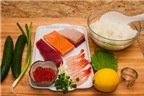 Sushi cuộn dưa chuột ngon mát
