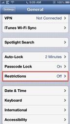 Tắt tính năng In-App Purchase trên iOS
