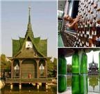 Thăm ngôi chùa bằng vỏ chai độc đáo ở Thái Lan