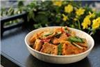 Thứ 6 ngon cơm với đậu rim trứng cá và canh thịt bò rau củ