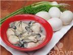 Trứng chiên hàu thơm ngon, bổ dưỡng
