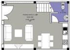 Nhà nhỏ 35 m2 theo phong thủy