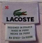 Mẹo nhận biết áo Lacoste thật và giả