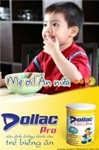 Dollac Pro, sữa cho trẻ biếng ăn