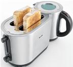 Độc đáo với máy nướng bánh mỳ và pha trà