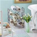 Nghệ thuật sắp đặt khăn trong phòng tắm