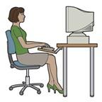 Tránh đau lưng do tư thế ngồi làm việc