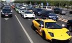 Đón dâu bằng 12 siêu xe Lamborghini