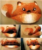 Trang điểm môi thành hình động vật