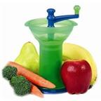 Máy xay hoa quả và thức ăn chín tiện lợi cho bé
