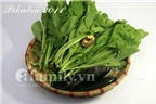 Món ngon dân dã: canh cải xanh nấu cá rô đồng