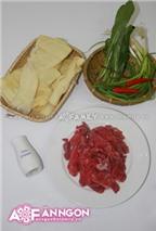 Măng chua xào thịt bò - làm nhanh ăn ngon