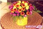 Tận dụng hộp trà cũ để cắm hoa thật đẹp