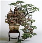 Độc đáo nghệ thuật điêu khắc trên bonsai của Nhật Bản