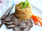 Cơm ngon với món thịt bò om ngũ vị