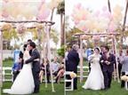 Cổng hoa làm đẹp cho nơi cử hành hôn lễ