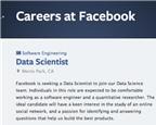 Kĩ sư dữ liệu tại Facebook cần những kĩ năng gì?