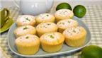 Cupcake chanh dừa, béo thơm ngon tuyệt
