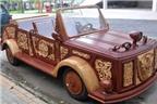 Đưa ôtô bằng gỗ vào phục vụ du lịch