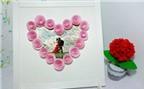 Khung ảnh trái tim hoa hồng 3D độc đáo