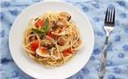 Mỳ Ý với ngao xốt bơ chanh ngon tuyệt