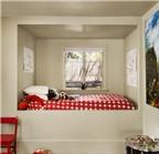 Bài trí giường ngủ ấm cúng trong hốc tường