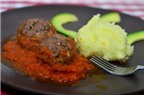 Thịt bò viên nướng xốt cà, món ăn Âu và Á ngon tuyệt