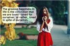 18 câu nói đáng suy ngẫm về hạnh phúc