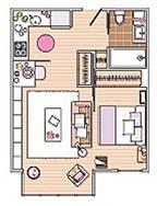 Cách bài trí căn hộ 40m² cực xinh và thoải mái