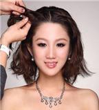 Cách búi tóc cho cô dâu có mái tóc ngắn