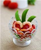 Salad tôm cà chua làm dễ ăn ngon