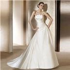 Bí quyết mặc váy cưới cúp ngực đẹp