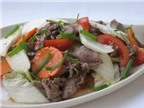 Bò xào cải thảo ngọt ngon và hấp dẫn
