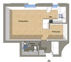 Học cách bài trí nội thất cho căn hộ 35 m²