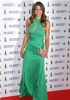 Liz Hurley tuyệt đẹp trong chiếc váy xanh