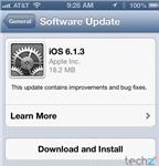 Apple phát hành iOS 6.1.3, sữa lỗi khoá màn hình