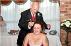 Cô dâu cạo đầu quyên tiền cho quỹ ung thư