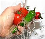 Rửa  rau củ đúng cách