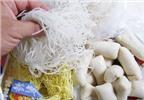 Mì căn, hủ tiếu khô chứa chất gây sỏi thận