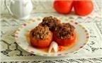 Cà chua nhồi thịt – món ăn thân quen của mọi gia đình