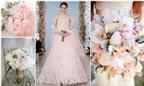 Hoa cưới cầm tay dành cho áo cưới màu