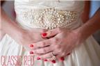Cách sơn móng tay đỏ sang, đẹp cho cô dâu