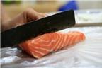 Cách làm sushi cá hồi trứng tôm