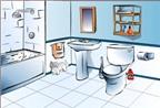 Thiết kế phòng tắm, nhà vệ sinh hợp phong thủy