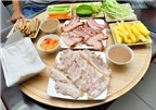 Bánh tráng thịt heo phong cách mâm khu TT Thành Công