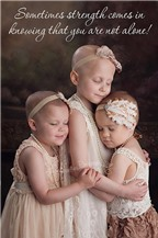 Bộ ảnh về ba bé gái ung thư lay động trái tim người đọc