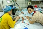 Chùm ảnh: Những đứa trẻ chống chọi với bệnh sởi
